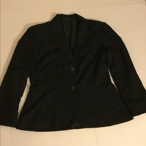 Don and Amelia Black Blazer with Red lining
